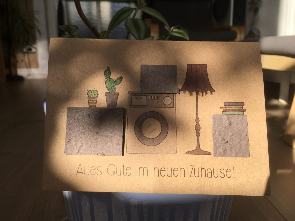 Postkarte mit Wildblumensamen